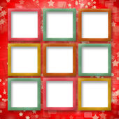 Multicoloured backdrop for greetings or invitations with frames — Stock Photo
