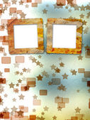 Oude grunge frames op de onscherpte boke achtergrond — Stockfoto