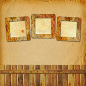 Old grunge frame on the abstract paper background — Stock Photo