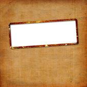 Odcizil papírové rámečky pro oznámení o abstraktní poz — Stock fotografie