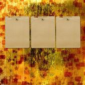 Old grunge frames on the blur boke background — Stock Photo