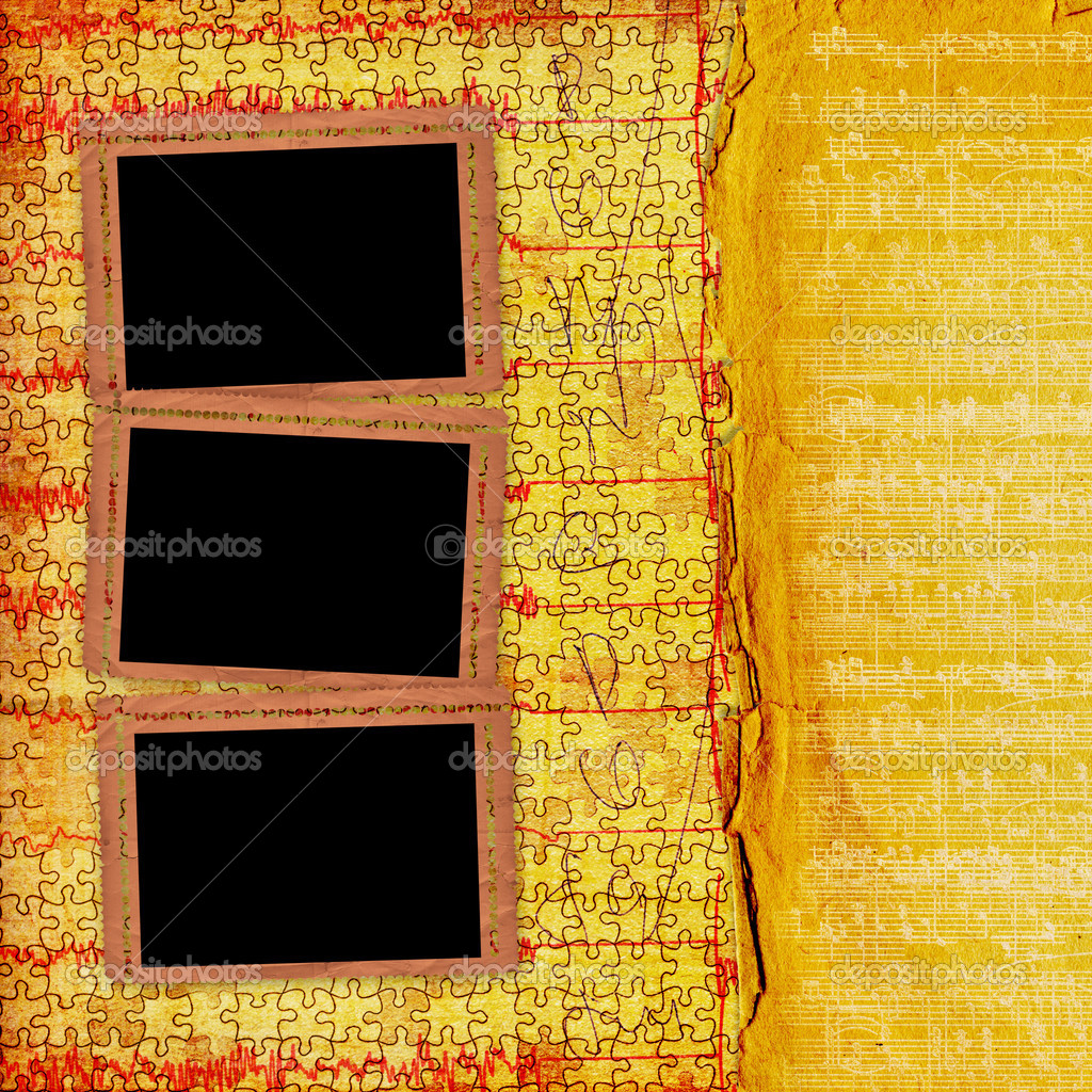 Old grunge paper frames on the ancient background — Stock Photo #3765989