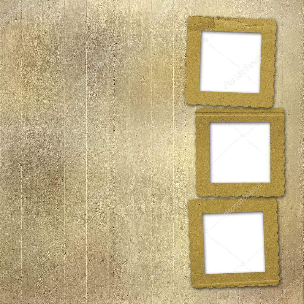Old grunge frames on the abstract paper background  Stock Photo #3766050