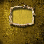 Old room, grunge interior with frames in style baroque — Stock Photo