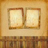 Oude grunge frame op de abstracte paper achtergrond — Stockfoto