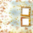 Old grunge frames on blur boke background — Foto Stock #3905842