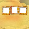 Old grunge frames on the abstract paper background — Stock Photo