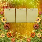Selamlar veya fl grup ile davetleri için rengarenk kartı — Stok fotoğraf