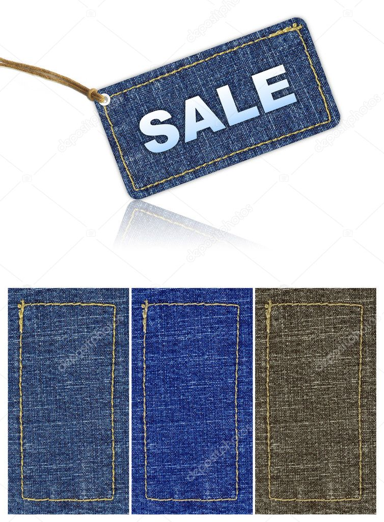 Jeans sale tag discount. background — Stock Photo #2823513