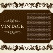 Stock Vector: Gothic frame decorative vintage