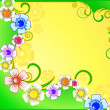 Abstract background with wild flowers — 图库矢量图片