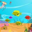 Vector illustration of the seabed - Stock Vector