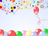 Färgad bakgrund med ballonger — Stockvektor