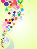 Colores de fondo con globos — Vector de stock