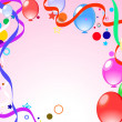 Colored background with balloons — ストックベクター #3073662