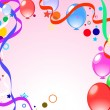 Colored background with balloons - Image vectorielle