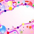 Colored background with balloons - Stock vektor