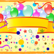 Stock Vector: Colored background with balloons