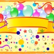 图库矢量图片: Colored background with balloons