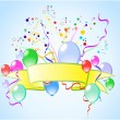 Colored background with balloons - Stok Vektör
