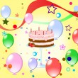 Royalty-Free Stock Vector Image: Colorful background with cake