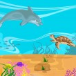 Royalty-Free Stock Vector Image: Vector illustration of the seabed and it