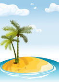 Palm island — Vector de stock