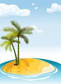 Palmiye adası — Stok Vektör