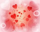 Alla hjärtans hälsningskort, eps10 format — Stockvektor