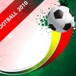 Vector de stock : Football poster with soccer balls, eps10 format