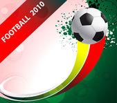Poster calcio con palloni da calcio, eps10 formato — Vettoriale Stock