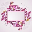 Floral frame - Vektorgrafik