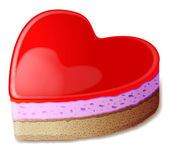 Heart cake — Vector de stock