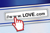 Internet dating — Stockvector