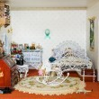 Vintage doll house — Stock Photo