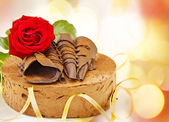 Birthday toffee cake — Stock Photo