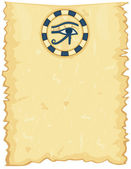 Egyptian papyrus with Eye of Horus — Stock Vector