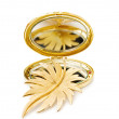 Vintage gold brooch — Stock Photo #3013865