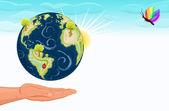 Rädda vår vackra gröna jord — Stockvektor
