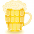 Cold beer mug — Stock Vector