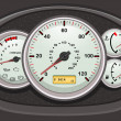 Royalty-Free Stock Vector Image: Car dashboard dials
