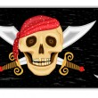 Jolly Roger - pirate flag — Stock Vector