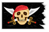 Jolly roger - bandera pirata — Vector de stock