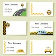 Stock Vector: Vector - Set of six taxi business cards