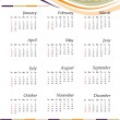 Royalty-Free Stock Vector Image: Calendar 2011 - USA