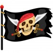 Jolly Roger Pirate Flag — Stock Vector
