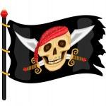 Jolly Roger Pirate Flag — Stock Vector