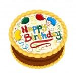 Happy Birthday chocolate cake — Stock Vector