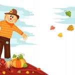 Autumn - Pumpkin and Scarecrow — Stock Vector #3741186