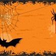 Halloween night with bat and spider — Stock Vector #3780909